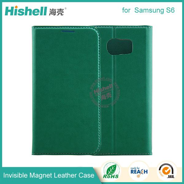 Invisible Magnet Leather Case for samsung s6-2.jpg