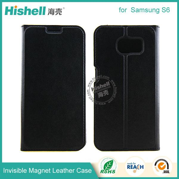 Invisible Magnet Leather Case for samsung s6-3.jpg