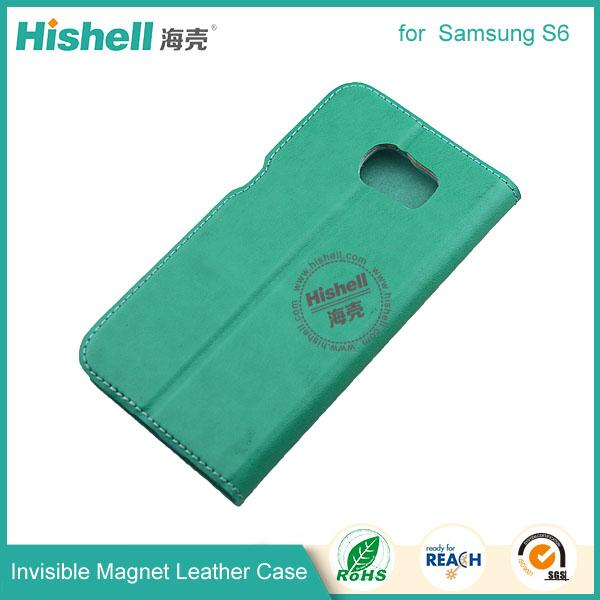 Invisible Magnet Leather Case for samsung s6-4.jpg