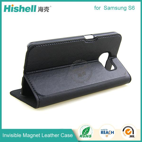 Invisible Magnet Leather Case for samsung s6-7.jpg