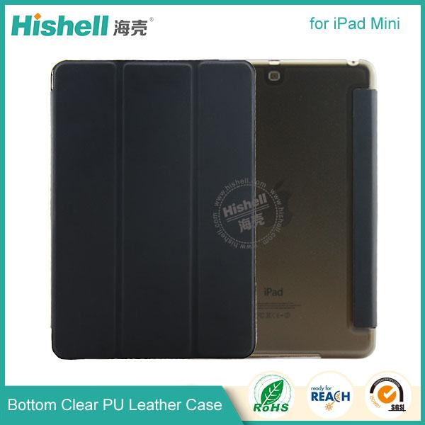 Bottom clear PU leather case for ipad mini-6.jpg