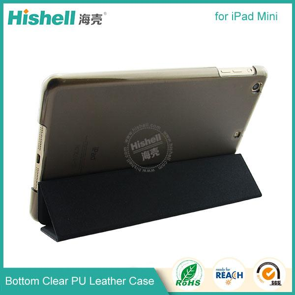 Bottom clear PU leather case for ipad mini-3.jpg