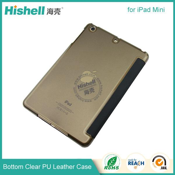 Bottom clear PU leather case for ipad mini-1.jpg