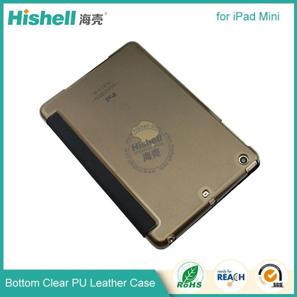 Bottom clear PU leather case for ipad mini-2.jpg