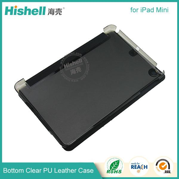 Bottom clear PU leather case for ipad mini-5.jpg