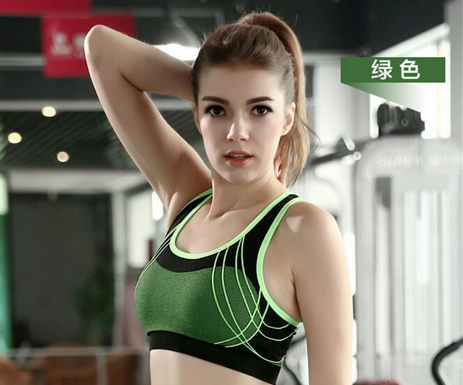 f8764a9142bfb Shockproof wireless fashion sports bra vest cross gather speed dry running  fitness yoga underwear