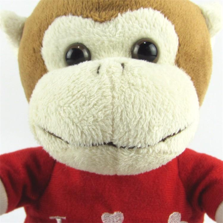 Soft stuffed plush toy custom logo monkey with red shirt0-1.jpg