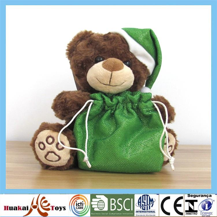 animal plush gift small teddy bear with green lucky bag for christmas (1).jpg