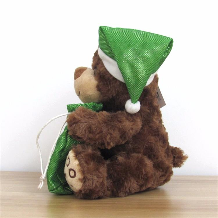 animal plush gift small teddy bear with green lucky bag for christmas (6).jpg