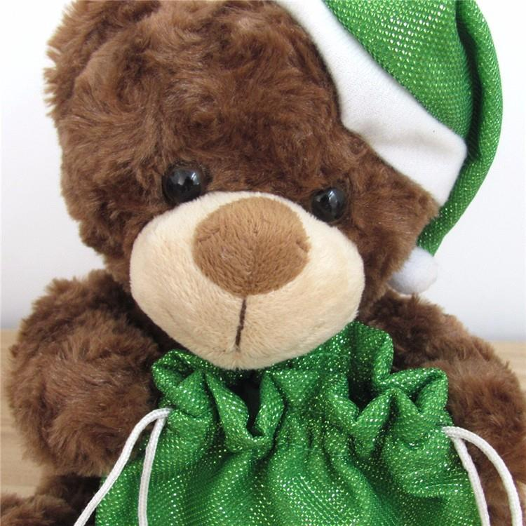 animal plush gift small teddy bear with green lucky bag for christmas (5).jpg