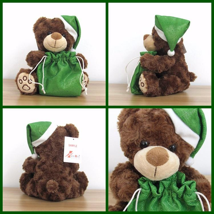 animal plush gift small teddy bear with green lucky bag for christmas (2).jpg