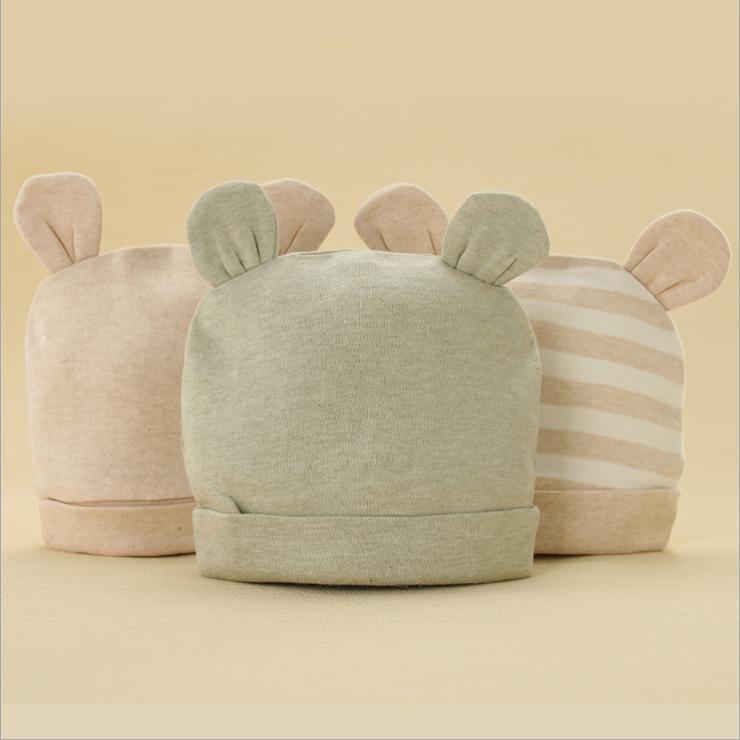 Buy Organic Cotton Baby Infant Baby Hat Cap sleeve tire bear ears ... 186b50ae13e
