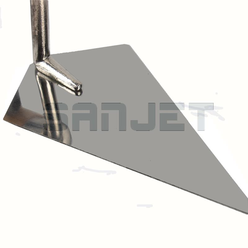 SANJET 135mm Stainless Steel Pointing Trowel with Wooden Handle 4 logo.jpg