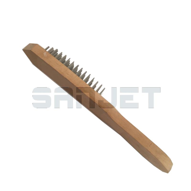 SANJET Zinc-plated Steel Wire Brush with Wooden Handle 1 logo.jpg