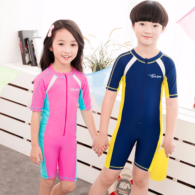 bae776548e Child Swimwear One Piece Boys Girls Swimsuits Kids Bathing Suits Baby Swimsuit  Girl Children Beach Wear Diving Swimming Suit