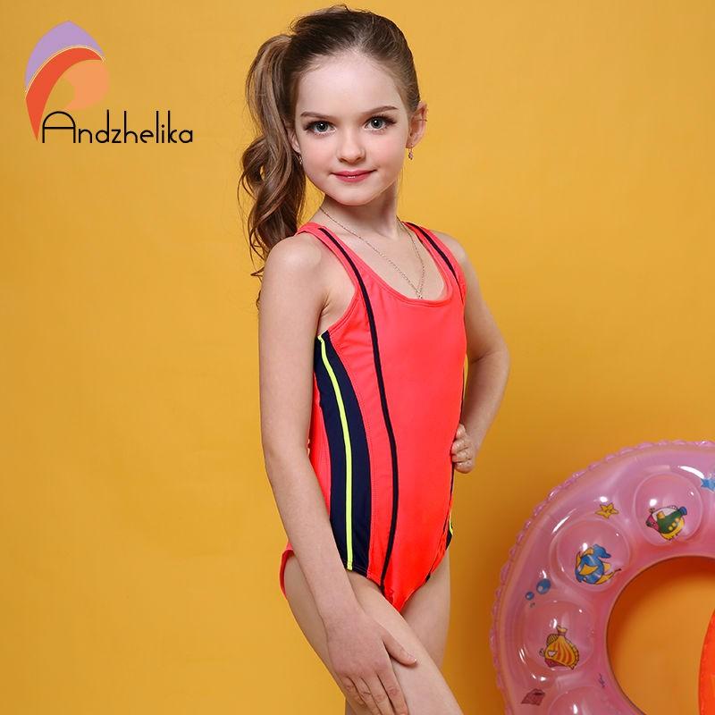 68da8be16c8 Buy Andzhelika One Piece Children Swimsuit Girls Summer Patchwork ...